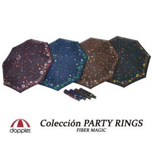 Doppler vuelve a sorprendernos con este original y divertido paraguas de mujer de la colección Party Rings. De nuevo