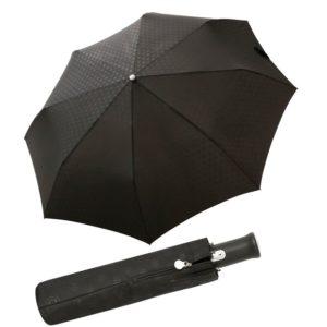 carbono y fibra de vidrio. Detalles preciosos convierten a este paraguas en el compañero perfecto para el hombre en los días de lluvia.