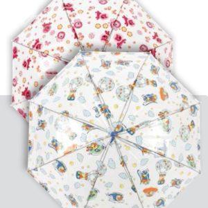 Este original paraguas transparente infantil hará las delicias de los más pequeños de la casa