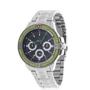 este es tu reloj. Con caja de acero y cronógrafo exterior tienes además una correa de silicona de regalo para que puedas cambiar el aspecto de tu reloj cuando te apetezca.