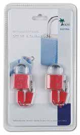 Set de 2 candados con llave para tus maletas de viaje puedan mantenerse cerradas hasta que tú lo decidas. Además están de oferta y tiene un precio muy barato.