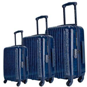 Set de maletasLuluCastagnette. La colección Jazz está elaborada con el material policabornato