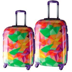 Set de maletasmarca Talento la cual ha creado la divertida colección Reggae con diseños únicos e ideales para destacar en los viajes. También son pefectas por su material policarbonato que hace que prime la resistencia