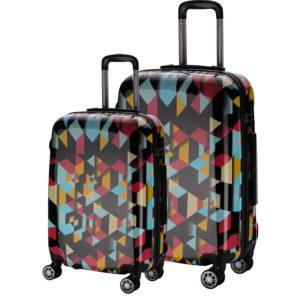 Set de maletasmarca Talento perteneciente a la colección Reggae con diseños atractivos y cuidados. La marca Talento se caracteriza por fabricar maletas rígidas. Este modelo en concreto combina hasta 4 colores en su diseño