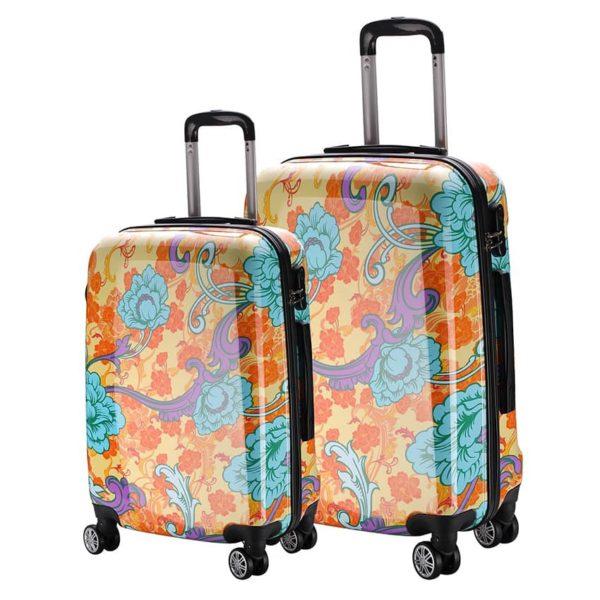 Set de maletasmarca Talento perteneciente a la colección Reggae con diseños atractivos y cuidados. La marca Talento se caracteriza por fabricar maletas rígidas. Este modelo en concreto combina hasta 4 colores en su diseño. Cuenta también con ruedas multidireccionales y tirador Trolley. ¡A volar!