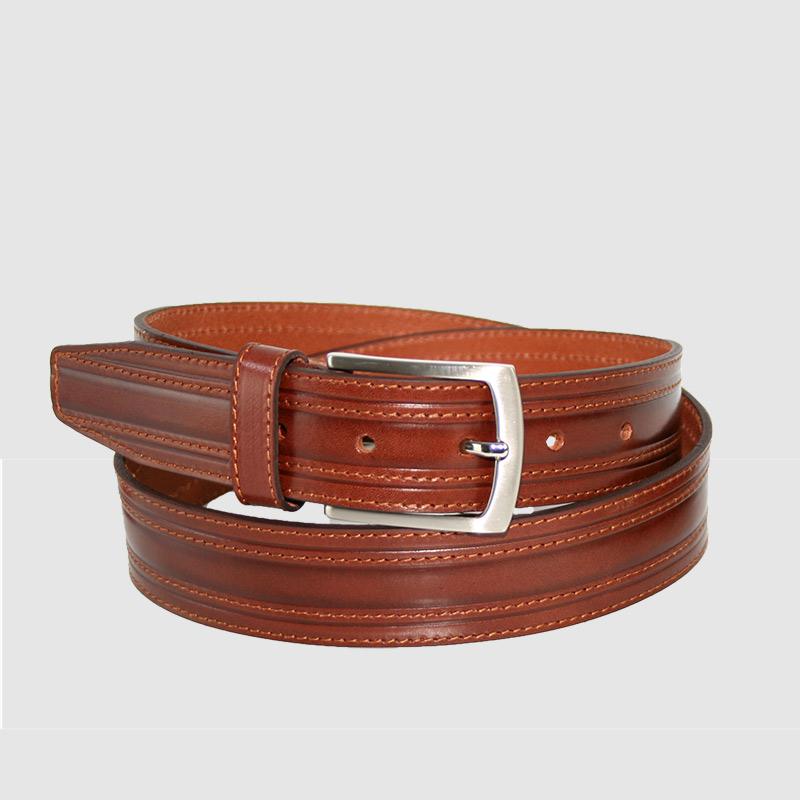 74220390668 Cinturón de piel elegante para hombre fabricado en España