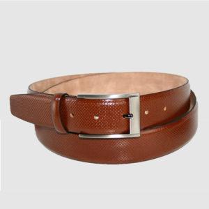 Cinturón de piel para caballero elegante de primera calidad